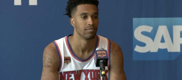 The Knicks are trying to trade Courtney Lee. [Image via MSG/Youtube screencap]