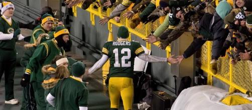 Aaron Rodgers might have said something bad. Image via Mike Morbeck/Wikimedia Commons