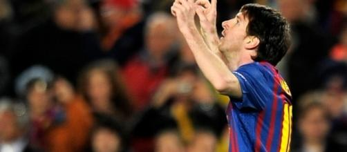 Barcelona captain Lionel Messi celebrates on e of his goals in a past match. (Image Credit: Ellen Leung/Flickr)