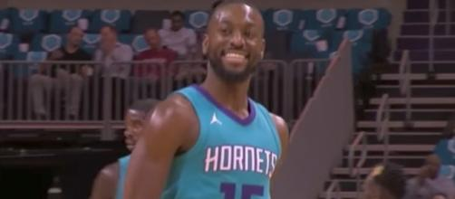 Kemba Walker and the Hornets host Aaron Gordon and the Magic on Sunday night. [Image via NBA/YouTube]