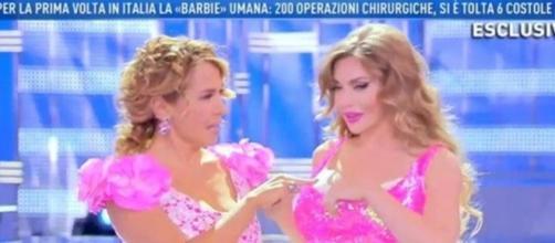 La Barbie umana è stata ospite di Barbara D'Urso