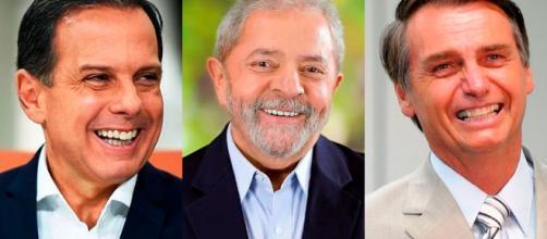 Lula e Bolsonaro crescem. Doria derrete