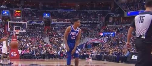 Markelle Fultz will miss a large chunk of his rookie season with the 76ers. -- YouTube screen capture / NBA