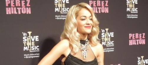 Rita Ora strikes a pose before her performance [Image Credit: Neon Tommy/Wikimedia]
