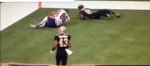 Zach Miller Season Ending Knee Injury ( Image credit - Meme Squad | YouTube)