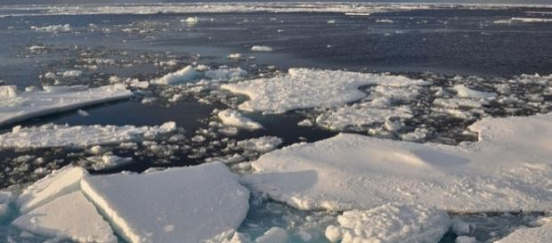 Arctic ice. [Image credit: Patrick Kelley/Wikimedia Commons]