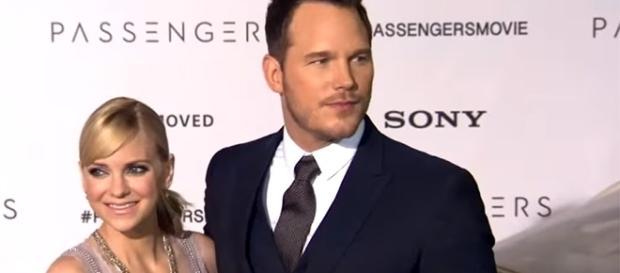 "Anna Faris and Chris Pratt announced in August that they were ""legally separating."" [Image credit: Entertainment Tonight/YouTube]"