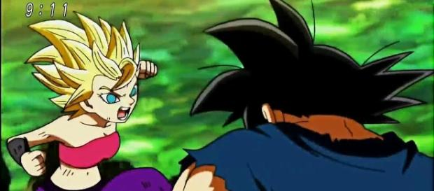 'Dragon Ball Super' reveals Caulifla's intention on fighting Goku.[Image Credit: ZRaulS/YouTube Screenshot]
