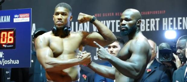 Joshua vs Takam weigh-in - Youtube/SecondsOut