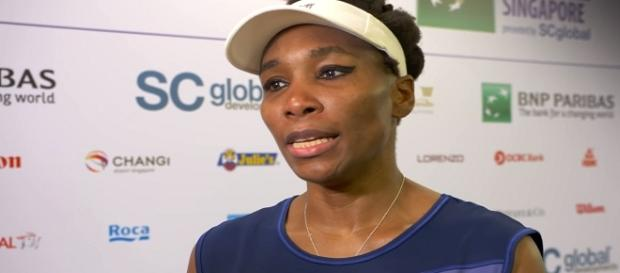 Venus Williams during an interview in Singapore. [Image Credit: WTA/YouTube]