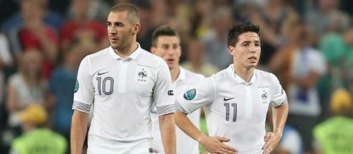 À l'instar de Karim Benzema, Samir Nasri n'entre plus dans les plans du sélectionneur (yahoo.com).