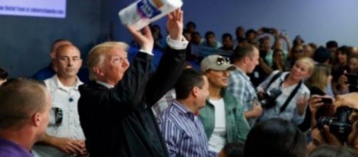 Donald Trump in Puerto Rico, via Twitter