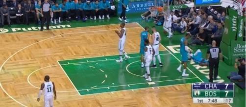 Image via Youtube channel: NBA Conference #BostonCeltics #CharlotteHornets