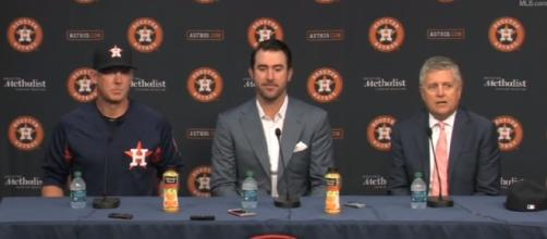 Justin Verlander introduced as an Astro - Image - MLB | YouTube