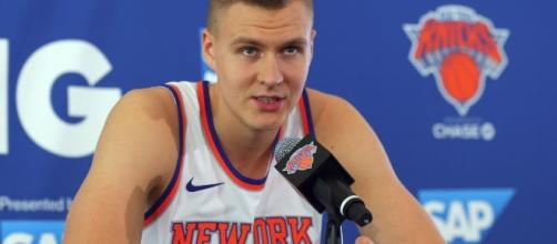 Kristaps Porzingis becomes the new face of the New York Knicks. (Image Credit - ESPN/YouTube Screenshot)