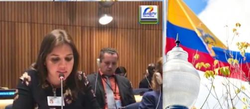 La nueva Vicepresidenta (encargada) del Ecuador María Alejandra Vicuña