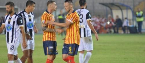 Lecce- Sicula Leonzio si conclude con il risultato pirotecnico di 3 a 2 in favore dei Salentini. Fonte:SoloLecce