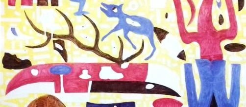 "Marcovinicio, ""Kamlanie"", olio su tela, cm 200x240 (2017) 3"