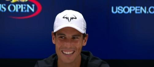 Rafael Nadal during a press conference at the 2017 US Open/ [Image via US Open Tennis Championships/YouTube screenshot]