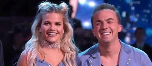 Witney Carson and Frankie Muniz on 'DWTS'. (Image Credit: Anna Marie/YouTube screenshot)