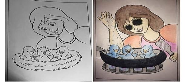 Os desenhos apesar de hilários expressam a realidade do planeta (Fotos - Reprodução/ 9gag)