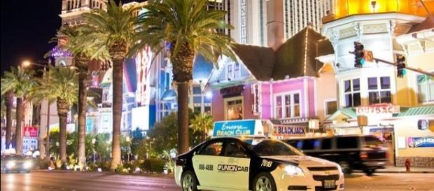 The strip in Las Vegas (Image credit – Antoine Taveneaux – Wikimedia Commons)