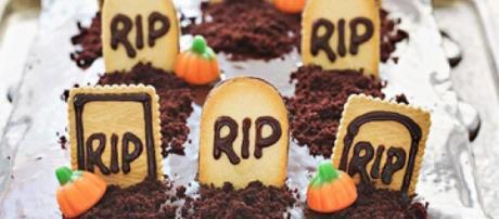 Ecco u esempio di torta di halloween da creare con un po' di fantasia