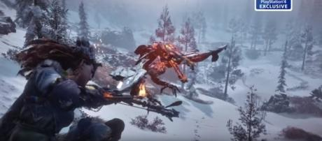 """""""Horizon: Zero Dawn"""" new trailer reveals new mechanics, outfits, weapons, and more. [Image Credits: PlayStation EU/YouTube]"""