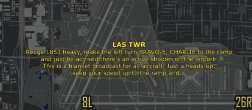 "Air traffic Tapes ""ACTIVE SHOOTERS ON RUNWAY"" during Las Vegas shooting! Image credit - SnowFlake Blender | YouTube"