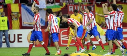 Atletico Madrid players celebrate after beating Atletico Bilbao in the past. (Image Credit: Football Gallery/Flickr)