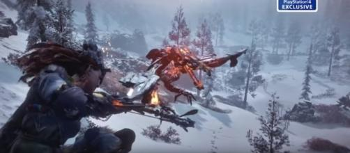 """Horizon: Zero Dawn"" new trailer reveals new mechanics, outfits, weapons, and more. [Image Credits: PlayStation EU/YouTube]"