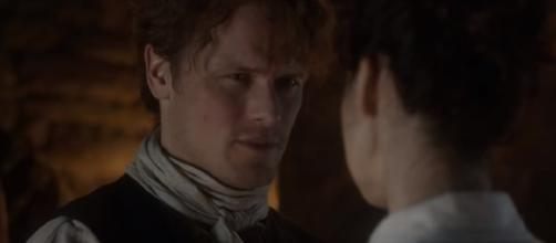 Jamie is keeping a secret from Claire [Image credit - YouTube/Tv Promos]