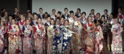 Miss International 2017 delegates in kimono [Image Credit: seng12900.beautypageant/YouTube]