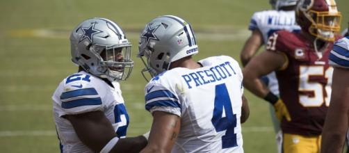 Prescott and Elliott cleaned up against Redskins (Photo Credit:Keith Allision/Flickr)