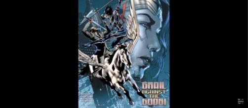 'Wonder Woman' 33 cover. Grail vs Perseus [Image via Best Comics Fan/Youtube screencap]