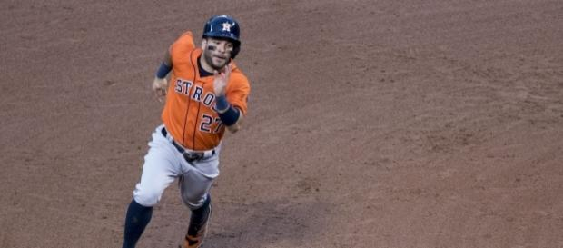 Jose Altuve has himself a day at the World Series- Keith Allison via Flickr