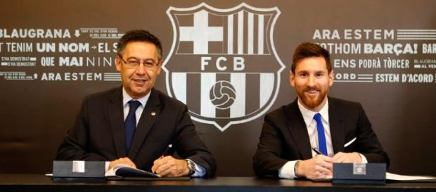 Lionel Messi renueva contrato con el Barcelona hasta 2021 - latercera.com