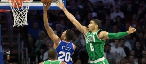 After the Celtics traded down to take Jayson Tatum, he's flourished in Boston while Markelle Fultz is sidelined with an injury Image via WEEI.com