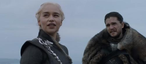 Daenerys Targaryen and Jon Snow at Dragonstone/ Photo: screenshot via GameofThrones channel on YouTube