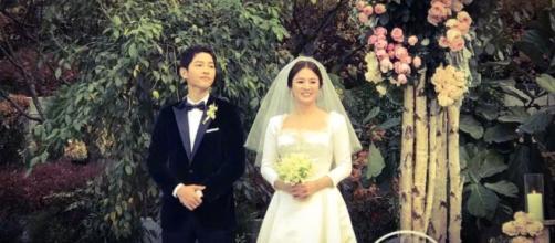 Song Joong-Ki and Song Hye-Kyo are now a real couple. [Image Credit: Joong Ki Philippines/Twitter]