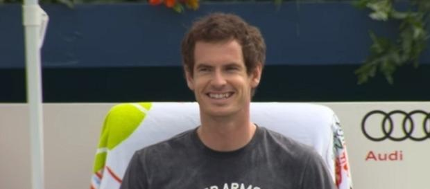 Andy Murray during a training session earlier this year in Dubai - Image credit - ATPWorldTour channel on YouTube