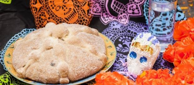 Pan de Muerto, una de las comidas típicas mexicanas.