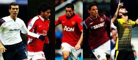 Algunos de los futbolistas mexicanos que han militado en la Premier League