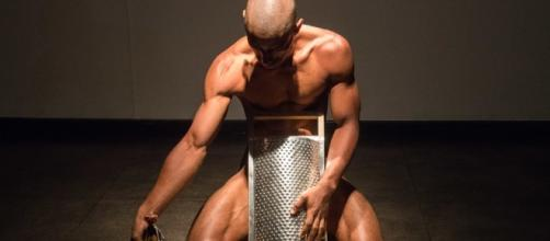 Antônio Oba durante sua performance