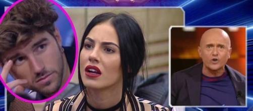 Grande Fratello VIP, Giulia De Lellis: Andrea la protegge, Alfonso la deride.