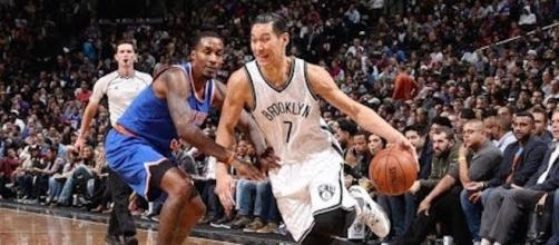 Jeremy Lin and the Brooklyn Nets defeated the NY Knicks in Tuesday night's NBA preseason action. [Image via NBA/YouTube]