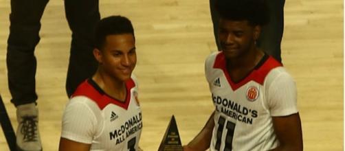 Josh Jackson (right) impresses in his NBA pre-season debut - Tony The Tiger via Wikimedia Commons