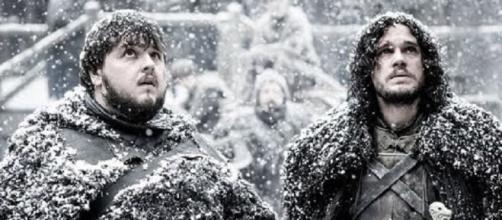 Sam, Jon Snow on 'Game of Thrones' - Image via YouTube/Daemon Blackfyre 2.0