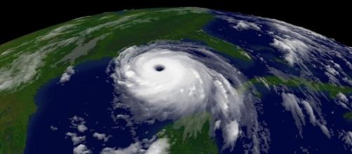 Satellite footage of hurricane Katrina [Image via https://en.wikipedia.org/wiki/File:Katrina-noaaGOES12.jpg]