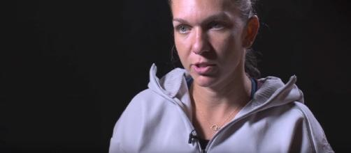 Simona Halep during an interview in Wuhan, China/ Photo: screenshot via WTA official channel on YouTube